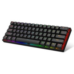 DK61 Mechanical  60% Gaming Keyboard,  RGB Backlit Wired PBT Keycap Waterproof Type-C Mini Compact 61 Keys Computer Keyboard with Full Keys Programmable (Gateron Optical Switch)