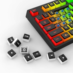 DIERYA x KEMOVE PBT Double Shot Pudding Keycaps, 104 Keys Mechanical Keycaps Set - OEM Profile - Compatible with 60% TKL Full-Size Stand US Layout Mechanical Gaming Keyboard