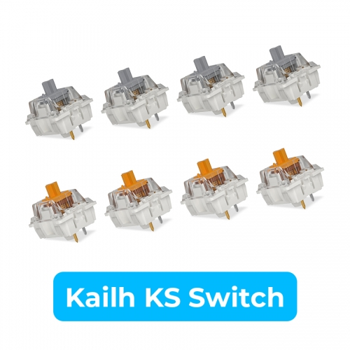 Kailh KS Series Switches Speed Gold and Silver Mechanical 3 PIN RGB DIY Switch Operating Life 70,000,000 Cycles(10 PCS) (Multiple)
