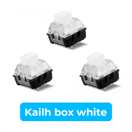 Kailh Mechanical Switch 3 PIN RGB DIY Replaceable Switches Box White  (10 PCS) (Multiple)